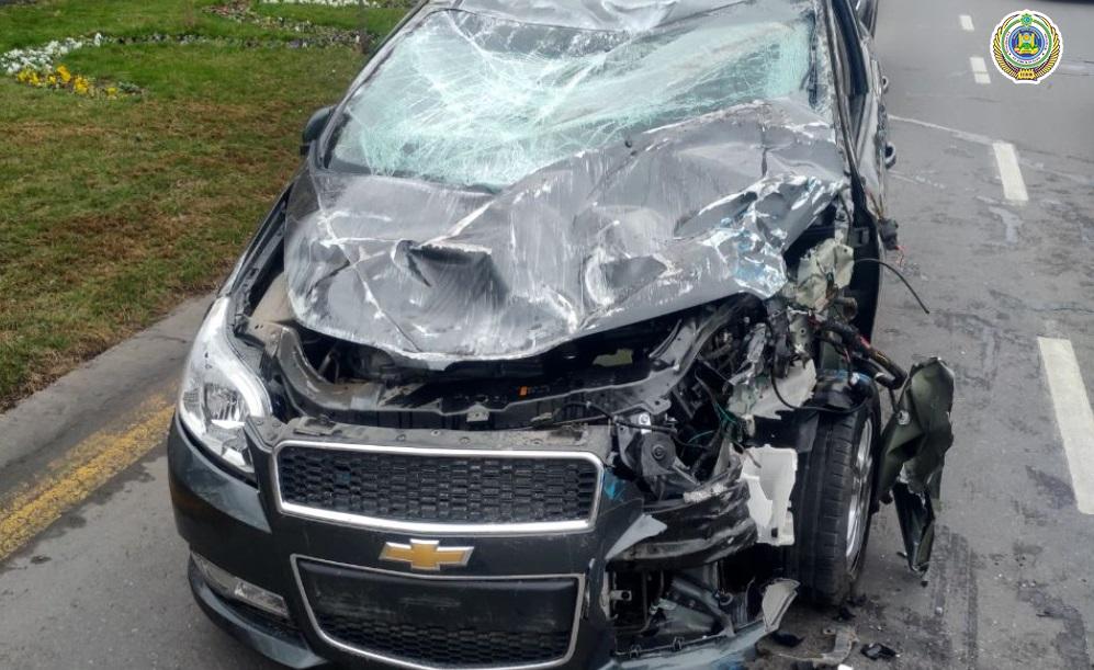 В Мирзо-Улугбекском районе столкнулись два автомобиля