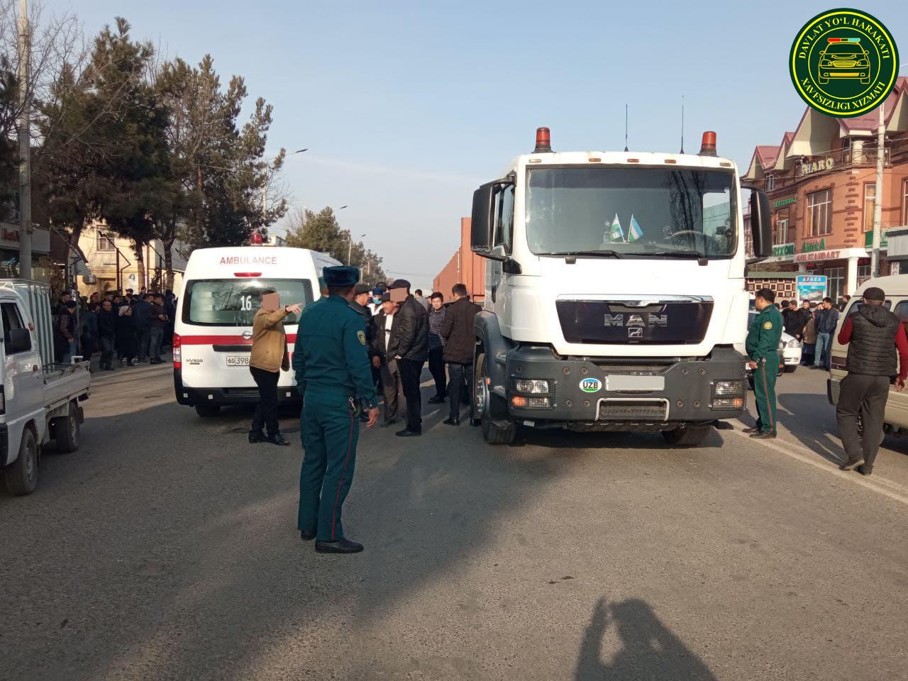 В Андижане грузовик сбил насмерть 83-летнего мужчину — видео