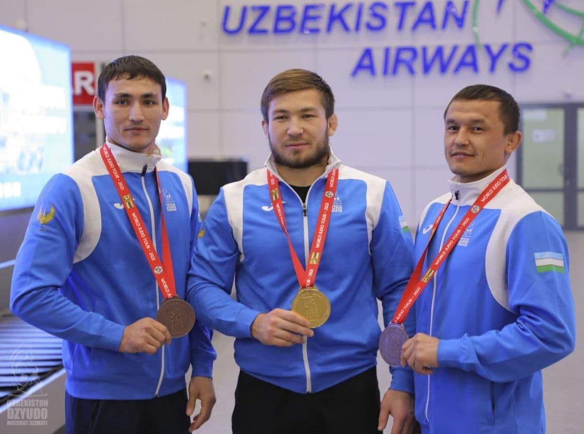 Спортсмены из Узбекистана завоевали три медали на международном турнире по дзюдо