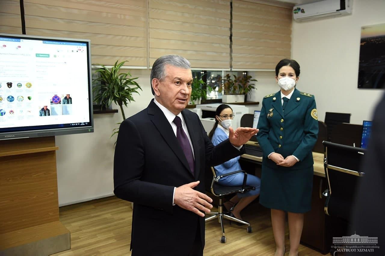 Шавкат Мирзиёев посетил ГУВД Ташкента