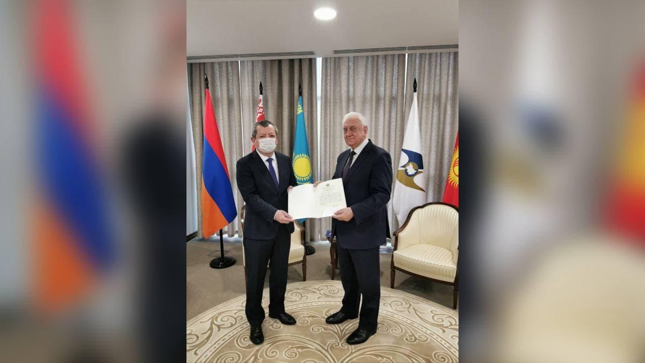 Постоянный представитель Узбекистана при Евразийском экономическом союзе приступил к своей работе в Москве