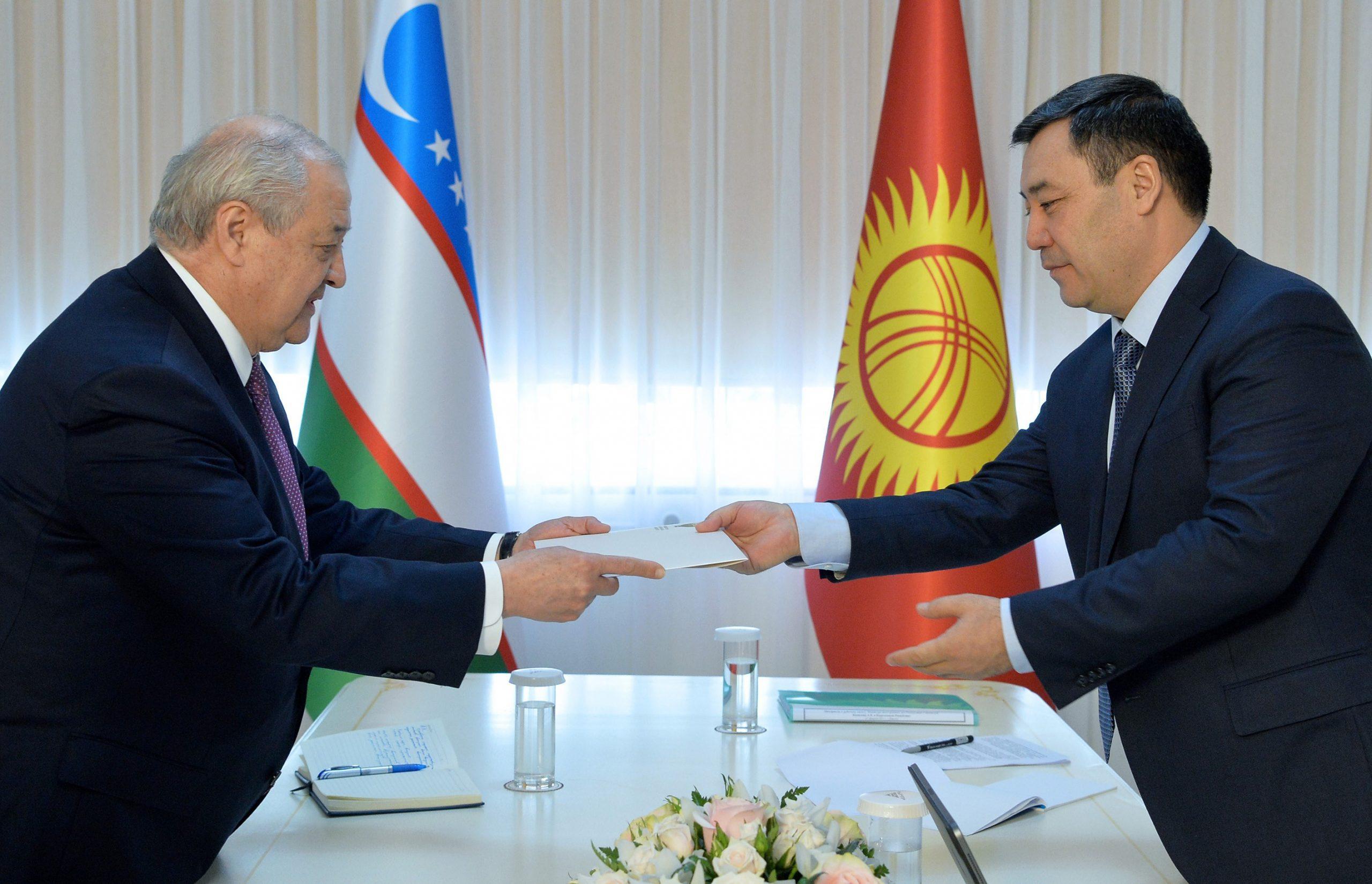 Абдулазиз Камилов встретился с президентом Кыргызстана