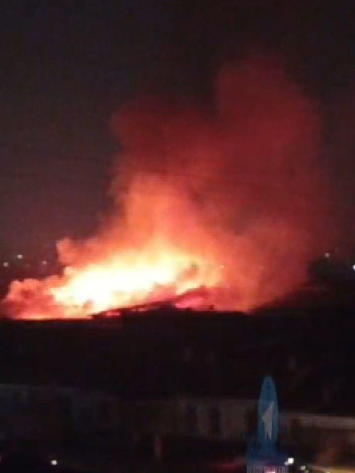 В Намангане загорелся жилой дом
