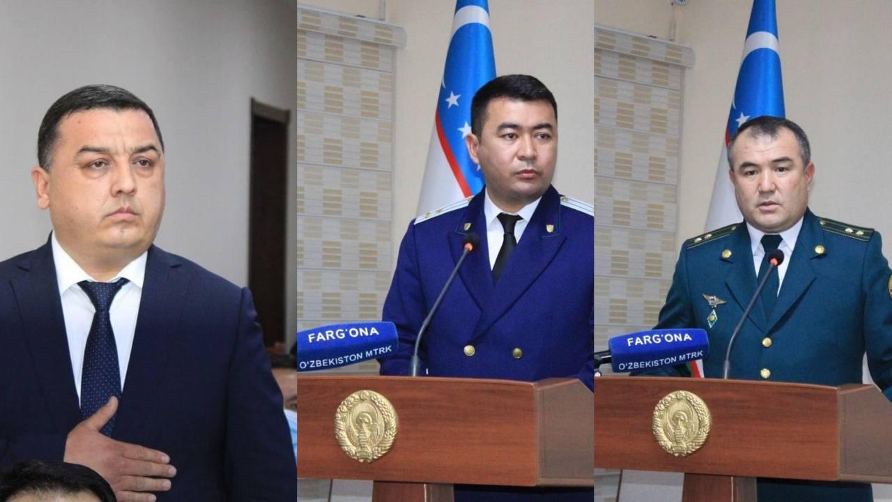 В Фергане назначили нового хокима, прокурора, главу УВД и налоговой инспекции
