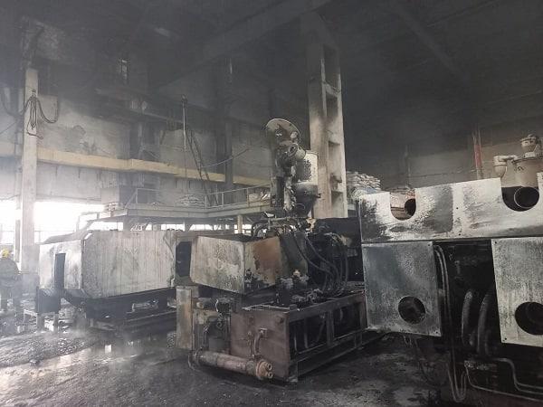 В Джизаке на заводе по производству пластиковых труб произошел пожар