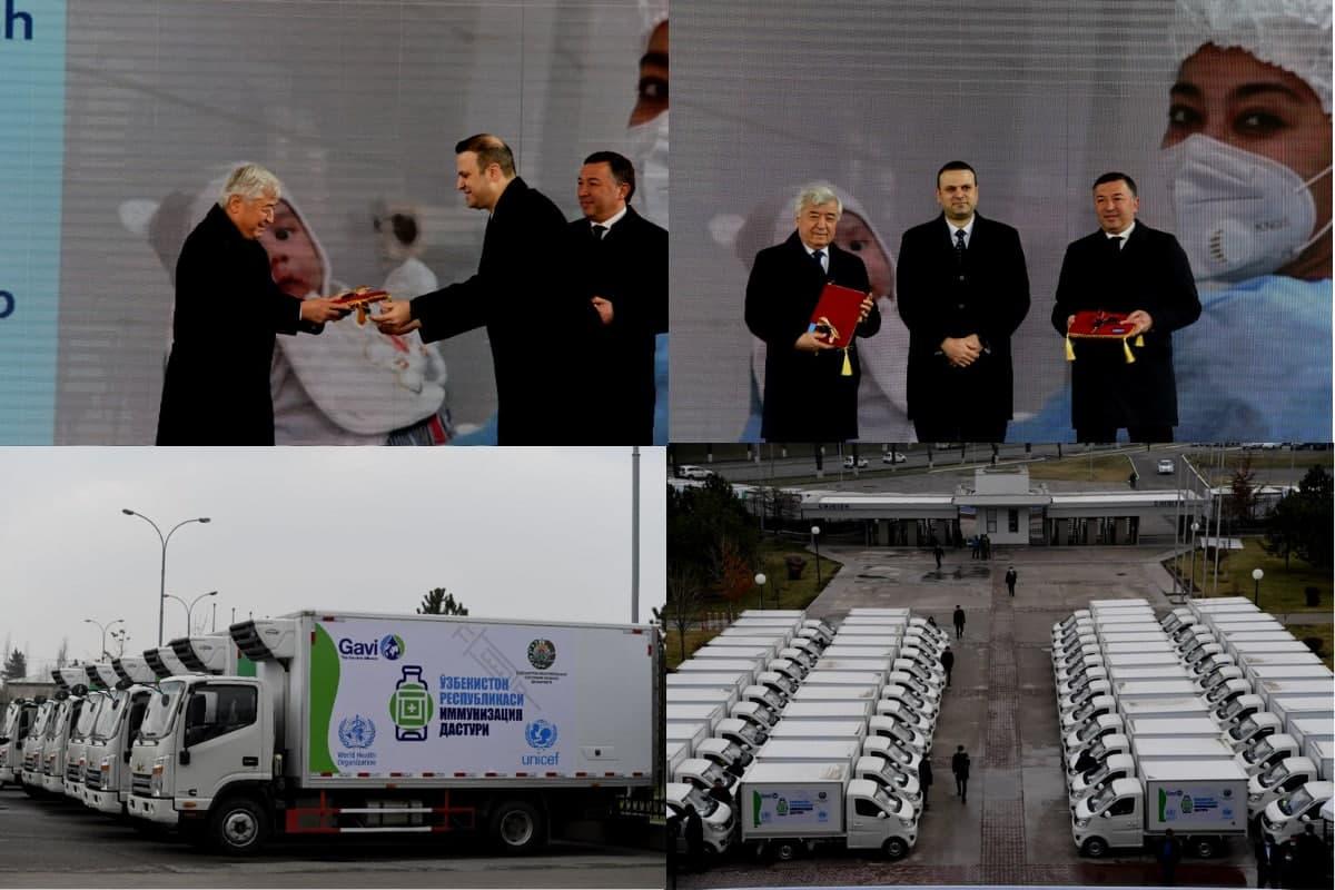 Узбекистану передали более 200 специальных автомобилей для транспортировки вакцин