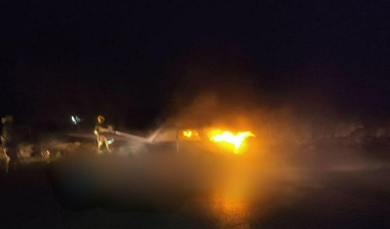 В Сырдарьинской области загорелся «Жигули»