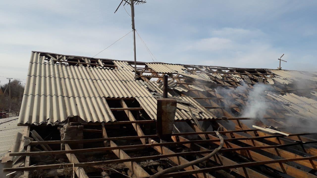 В Хорезмской области в одном из домов вспыхнул пожар