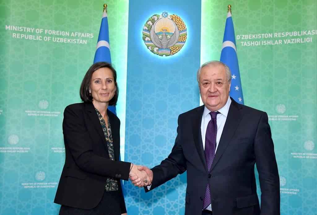 Глава МИД Узбекистана принял вновь назначенного посла ЕС