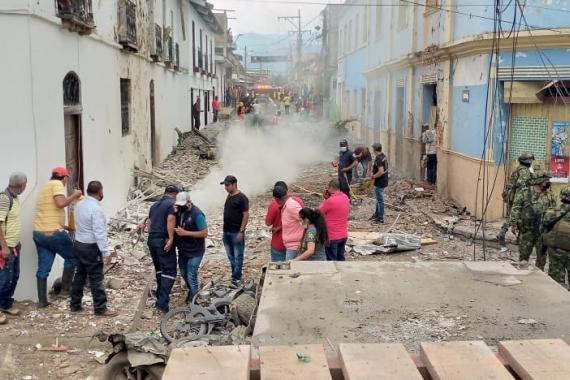 Возле здания мэрии Колумбии взорвалась машина — видео