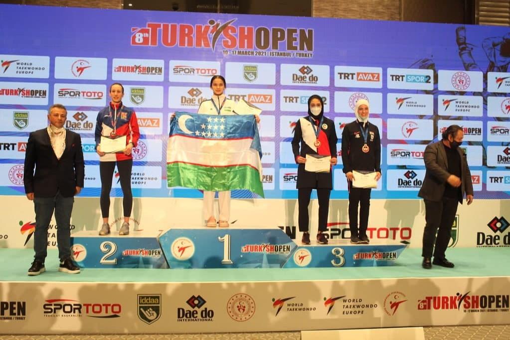 Сборная Узбекистана по тхэквондо завоевала восемь медалей на турнире Turkish Open