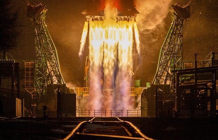 С «Байконура» запустили ракету «Союз-2.1.а» — видео