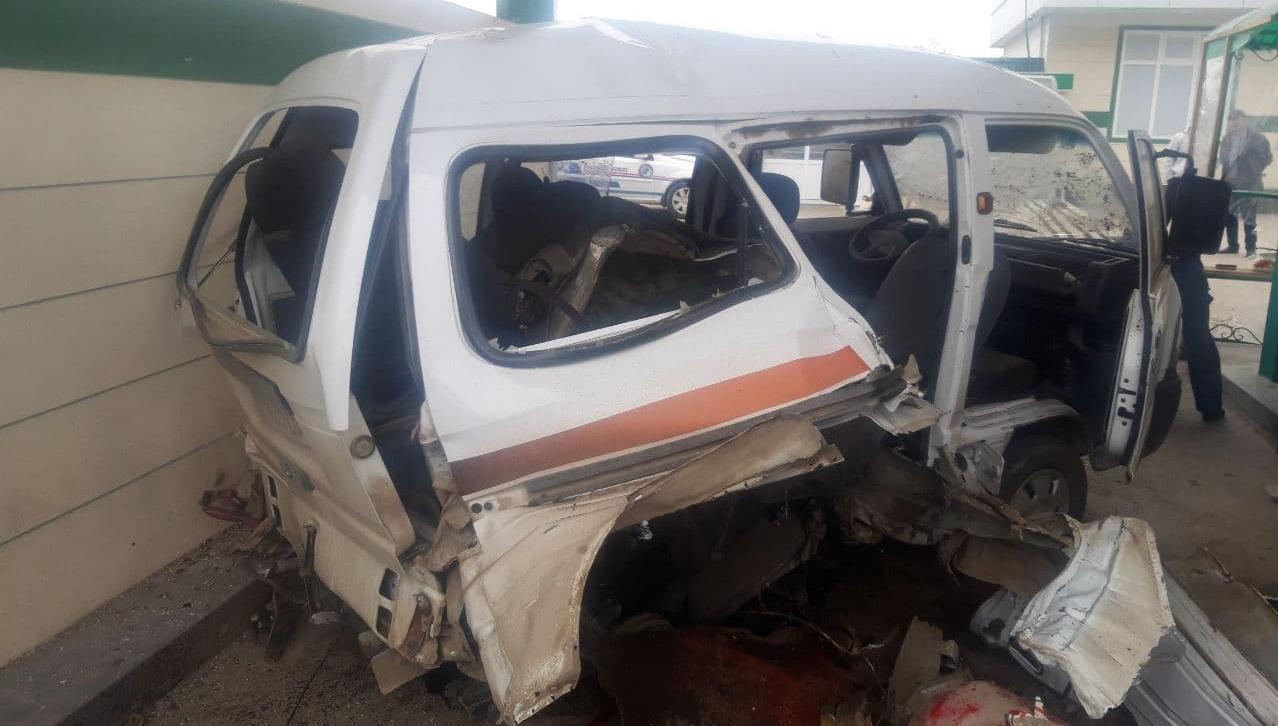 Взорвался газовый баллон автомобиля Damas в Гулистане