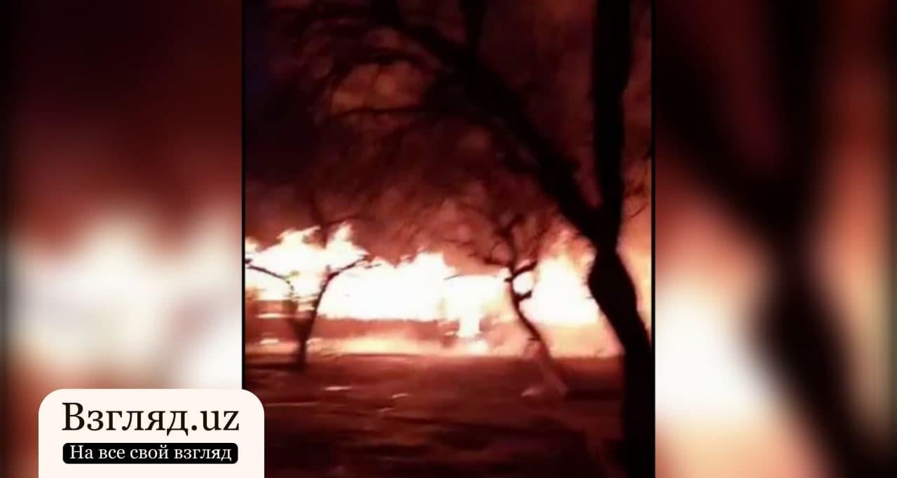 В Андижанской области произошел пожар в медицинском учреждении — видео