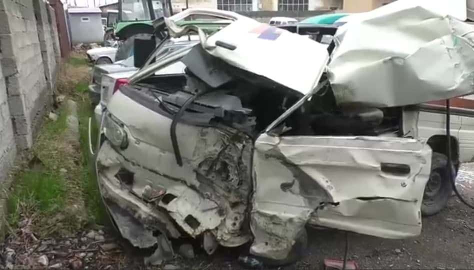 В Самаркандской области Damas столкнулся с грузовиком — видео