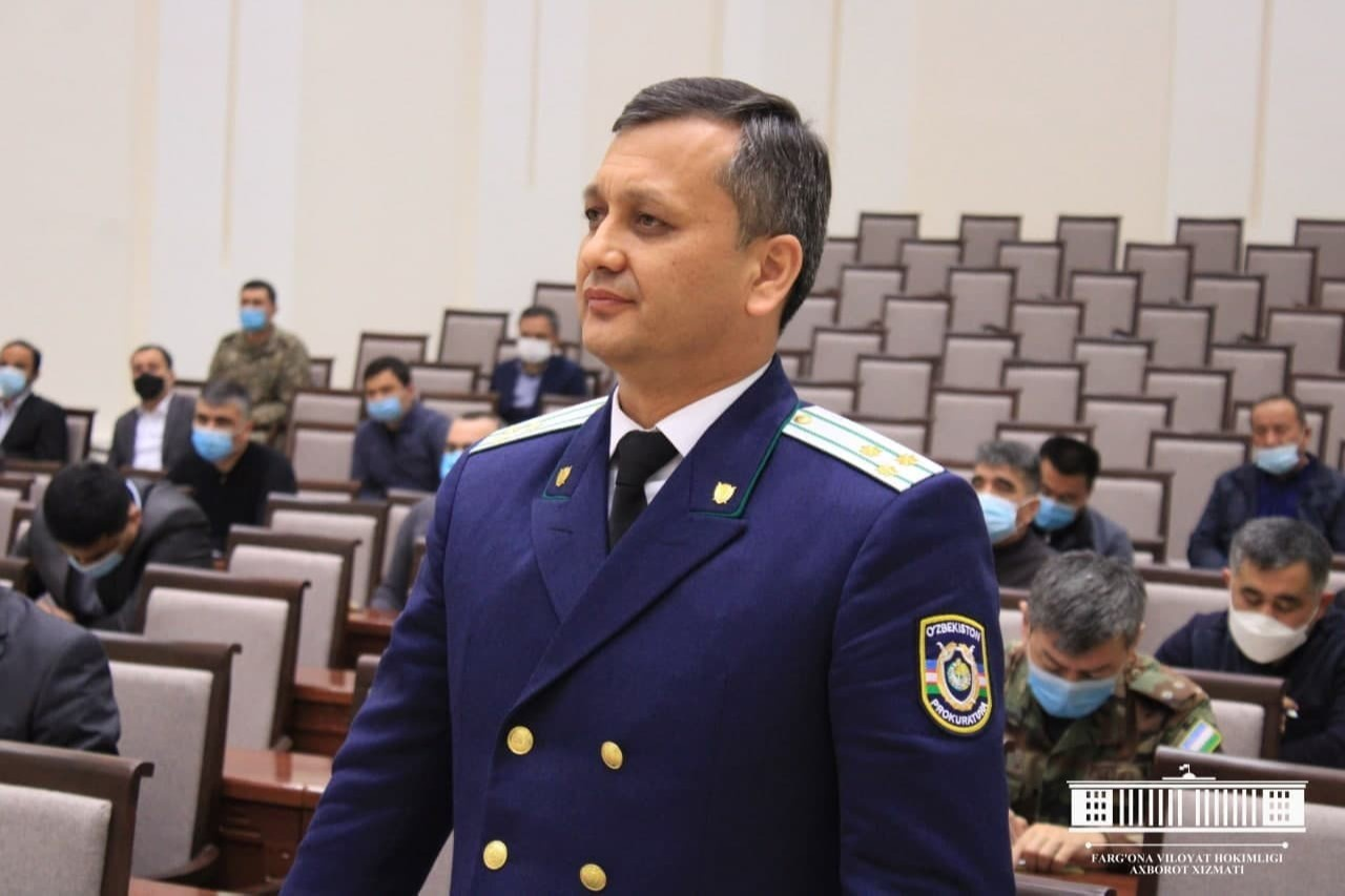 В Ферганской области назначен новый прокурор
