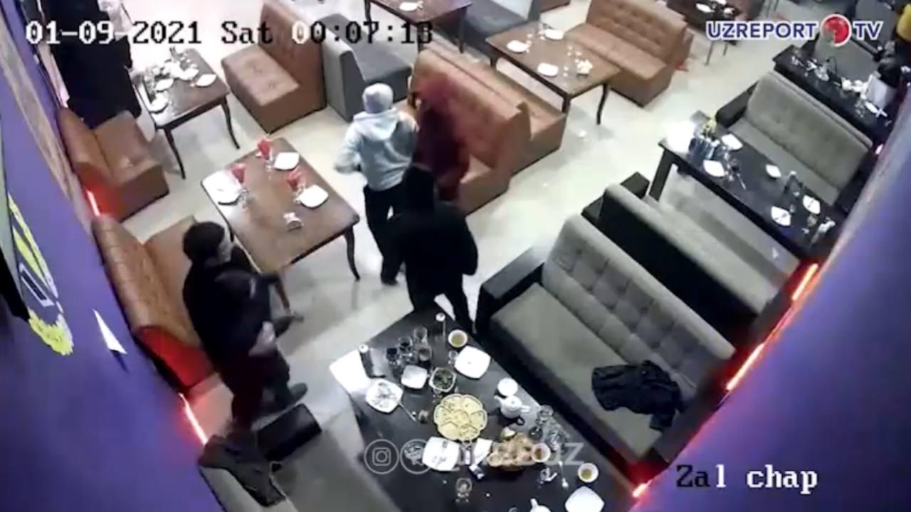 В одном из кафе Ташкента произошла массовая драка, где подрались 45 человек — видео