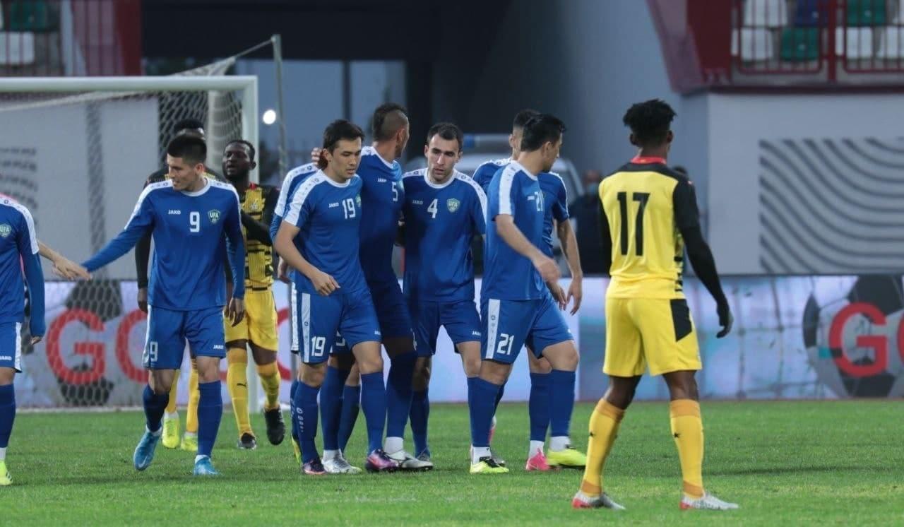 Сборная Узбекистана по футболу обыграла Гану в товарищеском матче