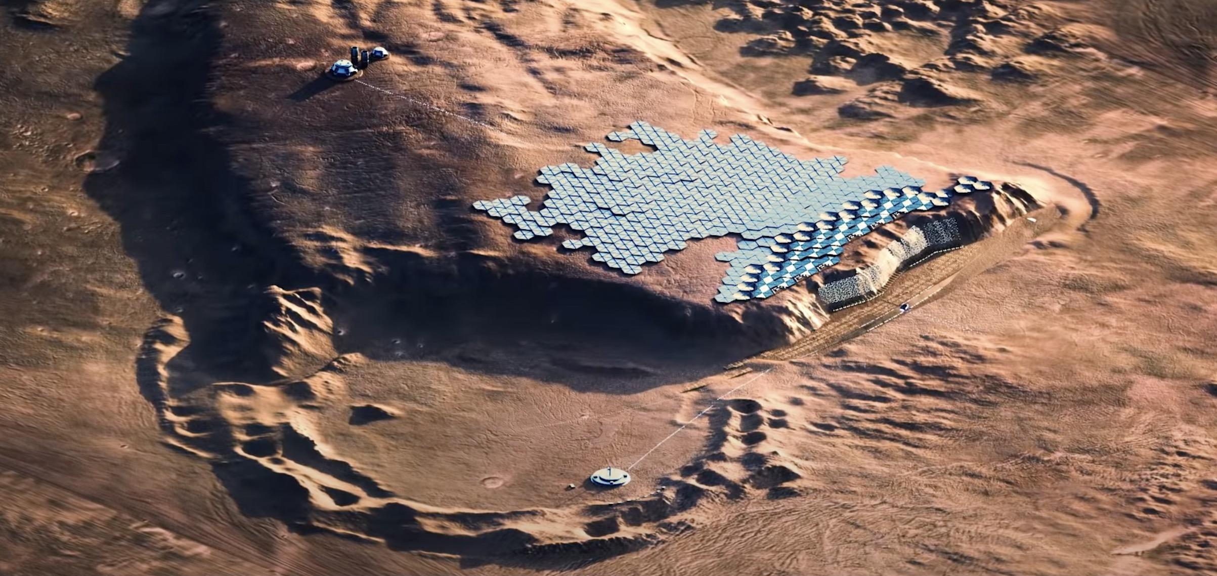 Стало известно как будет выглядеть первый город на Марсе — видео