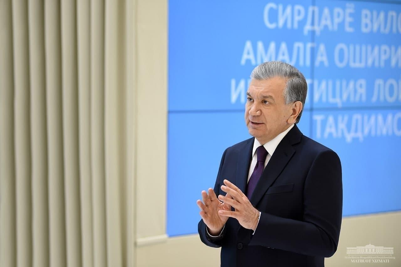 Президент ознакомился с презентацией инвестиционных проектов для Сырдарьинской области