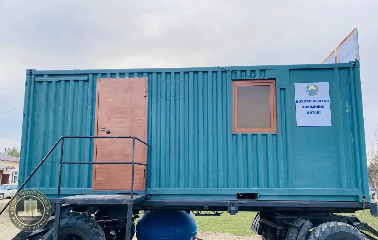Хоким Бухарской области переехал в контейнер на колесах