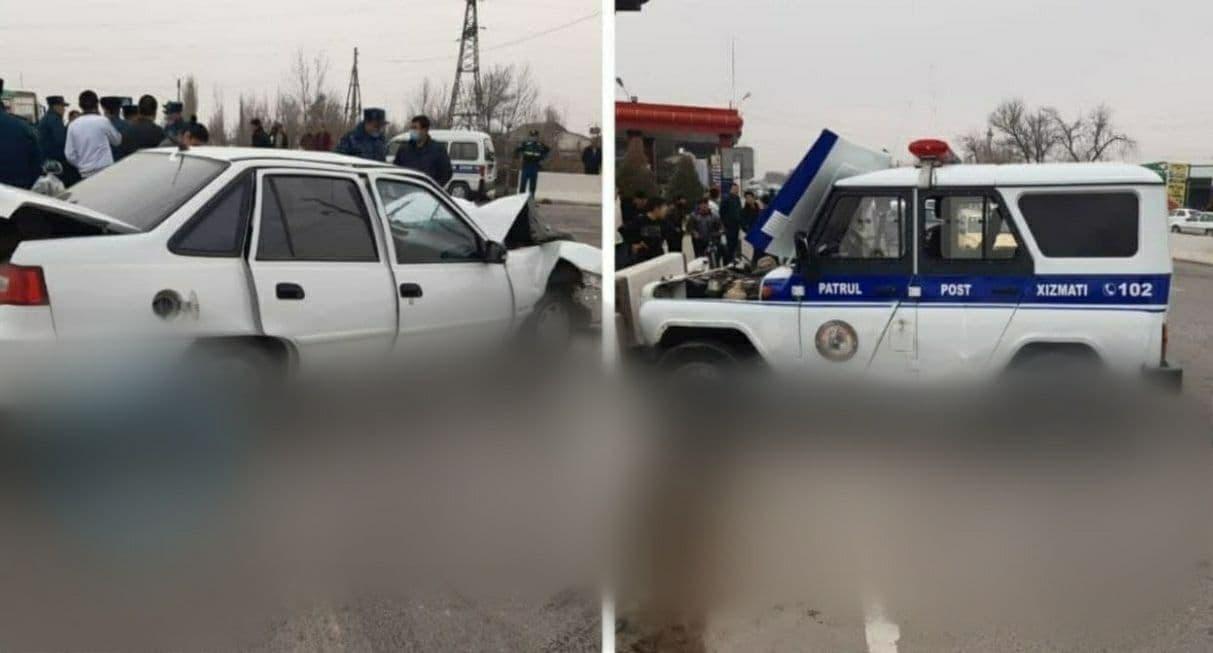 Произошло ДТП с участием служебного автомобиля в Сырдарье