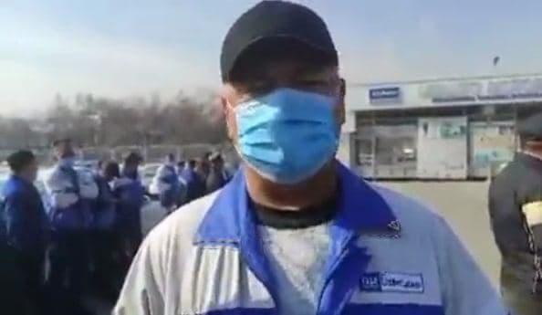 Сотрудники автостоянки UzAuto Motors вышли с протестом из-за невыплаты зарплат — видео
