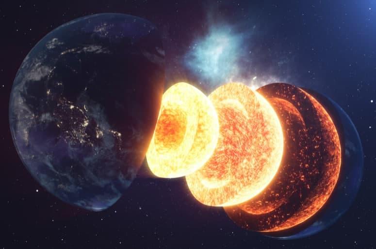 Внутри ядра Земли обнаружена неизвестная структура