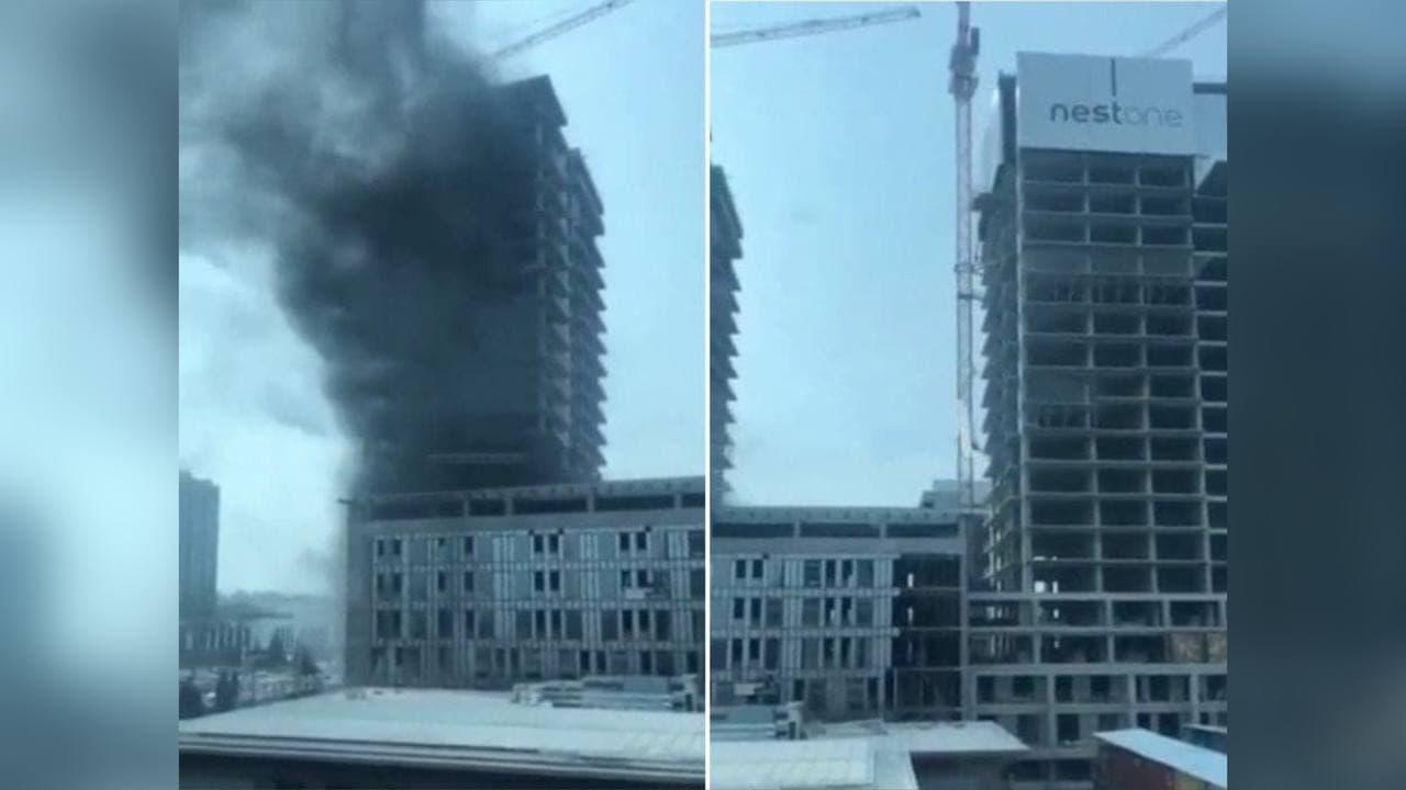В Tashkent City произошел пожар в жилом комплексе Nest One