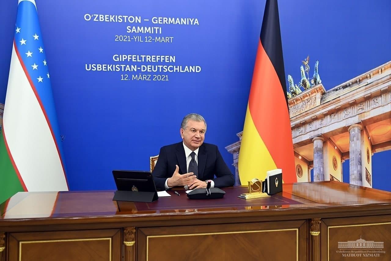 Президент Узбекистана провел переговоры с Федеральным канцлером Германии