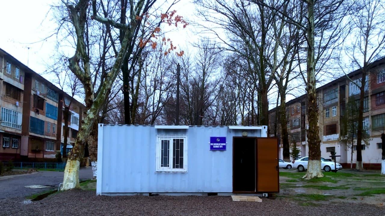 Начальник ОВД Чирчика переехал в контейнер после визита президента