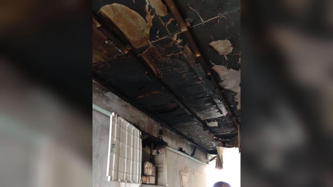 Загорелся газовый счётчик в одном из домов Ташкента