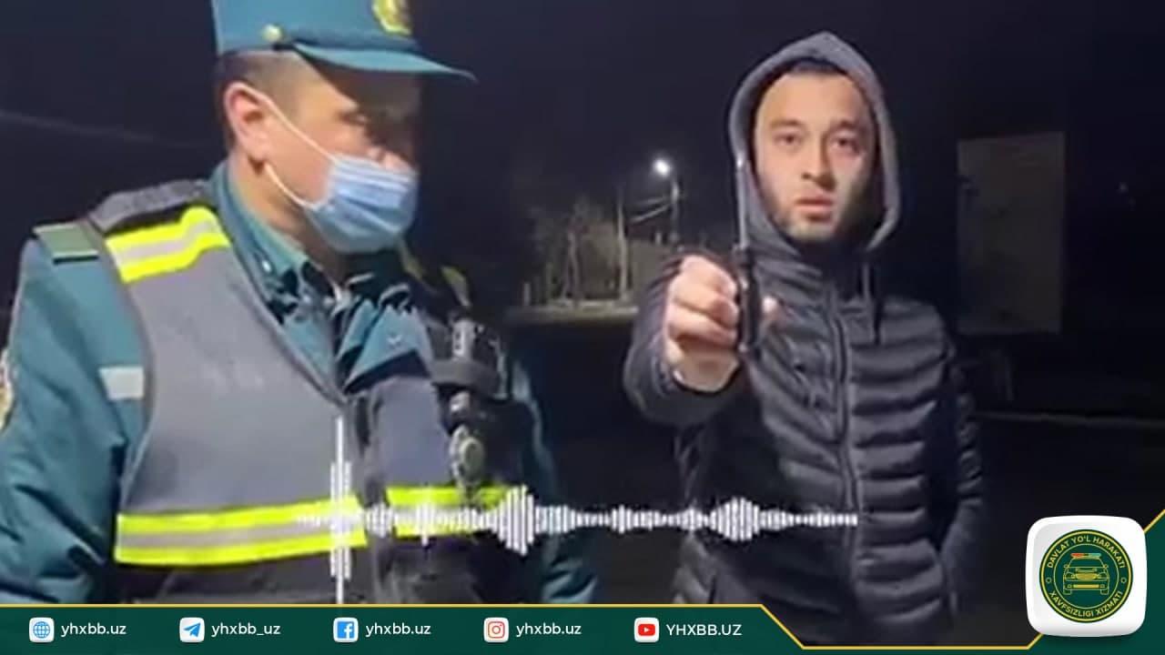 В Ташобласти сотрудник ДПС составил протокол на водителя из-за отвертки – видео