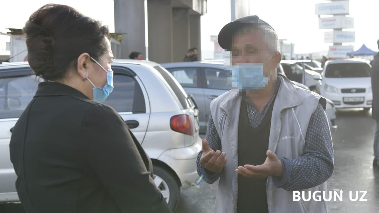 Танзила Нарбаева побеседовала с гражданами, работающими мардикорами на Куйлюкском рынке