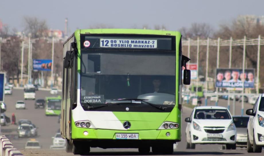 В Ташкенте изменится маршрут автобуса №12