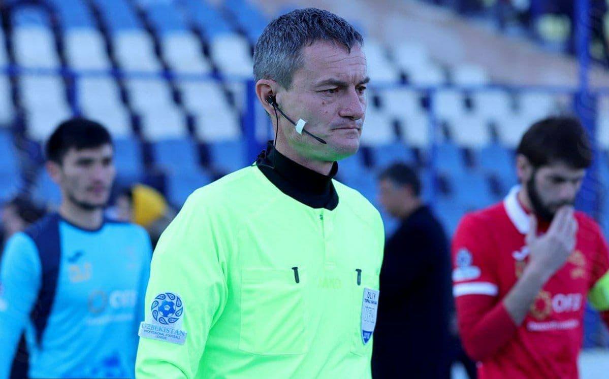 Футбольного арбитра Виктора Серазетдинова отстранили после матча «Турон» и «Согдиана»