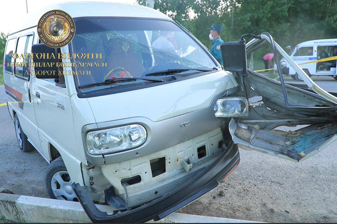 В Ферганской области врезались два автомобиля Damas: есть погибший