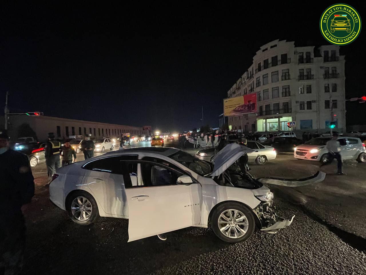В Самаркандской области столкнулись два автомобиля – видео