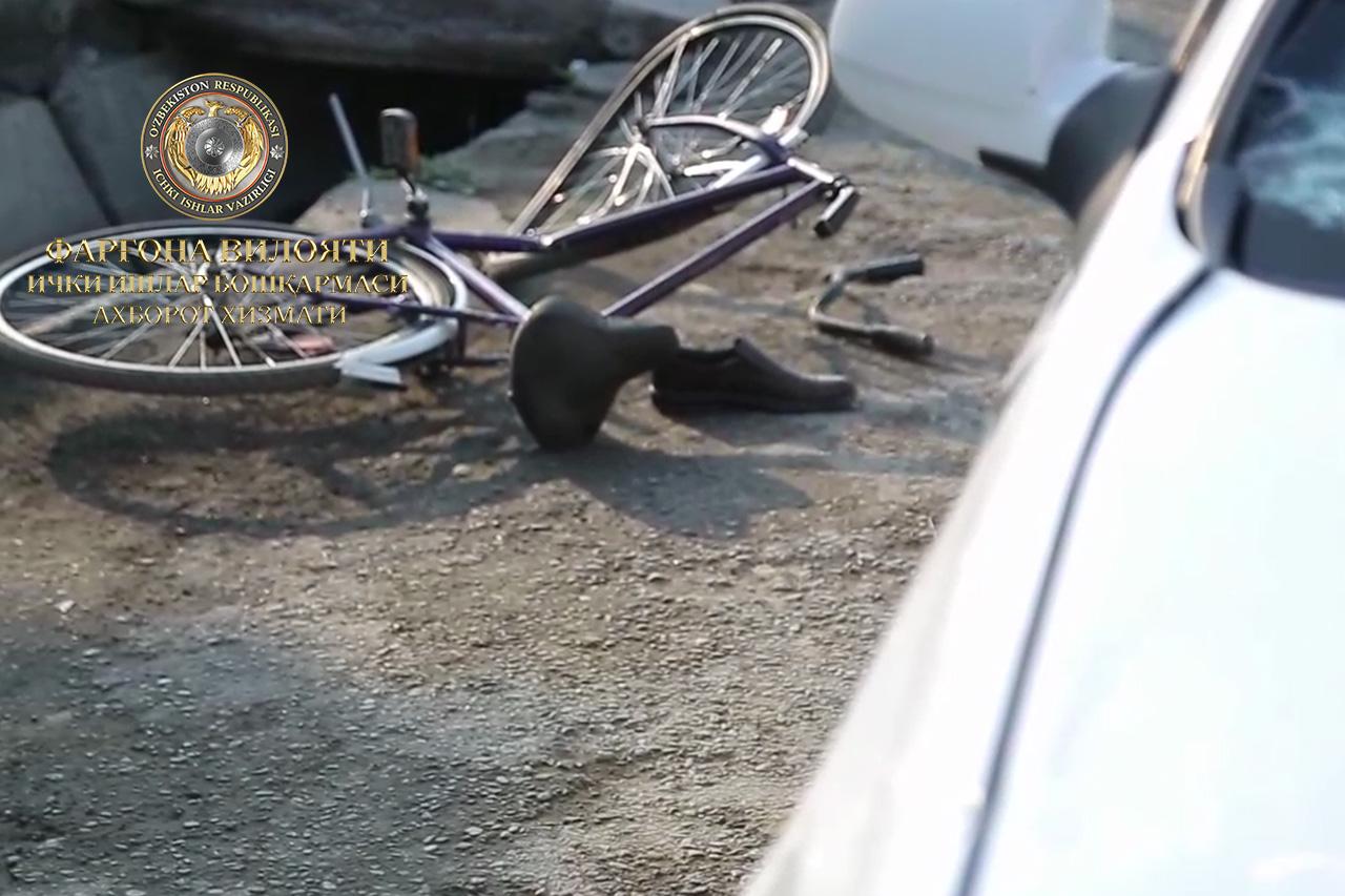 В Ферганской области Lacetti сбил велосипедиста – фото
