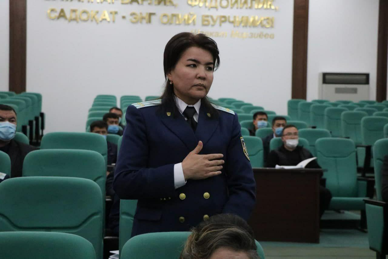 Прокурором Нурабадского района Самарканда назначили Норсулув Саипову