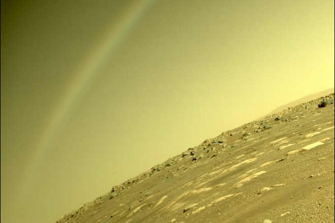 NASA рассказали о «радуге» на Марсе