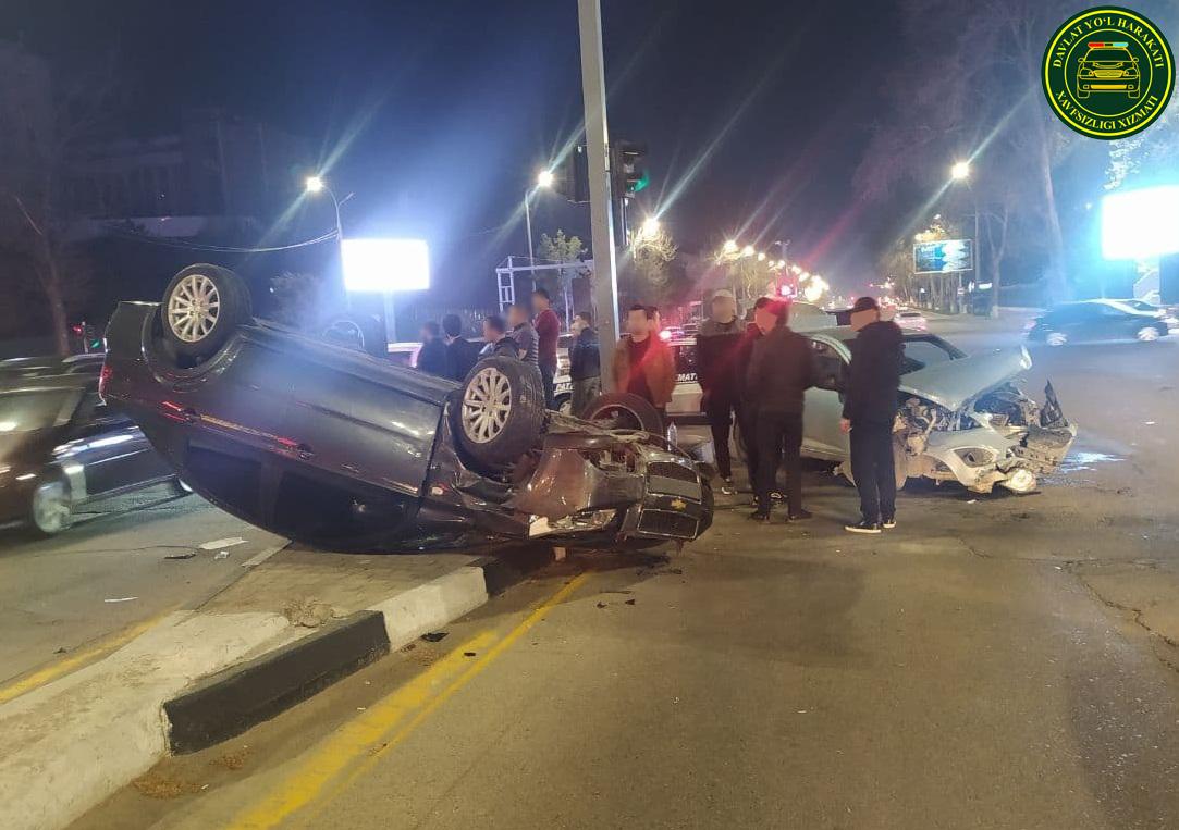 В Мирабадском районе столицы произошло ДТП с участием пяти автомобилей