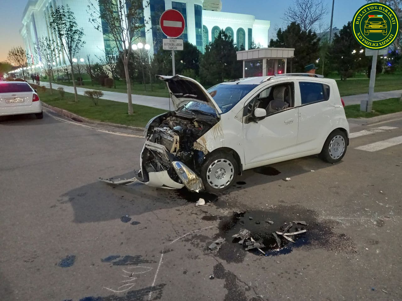 Lacetti и Spark столкнулись в Юнусабадском районе Ташкента