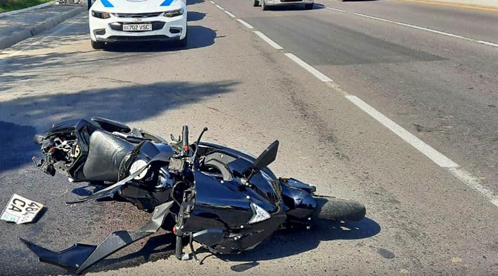 В столице после столкновения с Nexia погиб мотоциклист