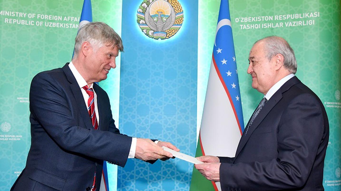 Глава МИД Узбекистана принял нового посла Сербии