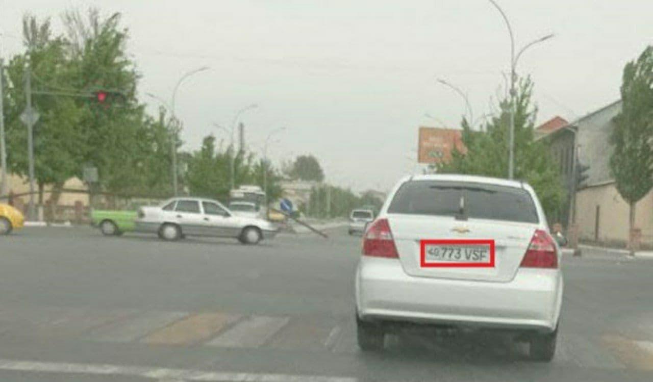 В Ферганской области сотрудник УВД нарушил ПДД на служебной машине