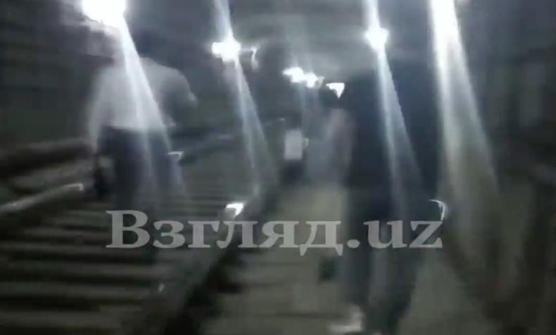 В «Узбекистон темир йуллари» прокомментировали внезапную остановку поезда метро на станции «Новза» — видео