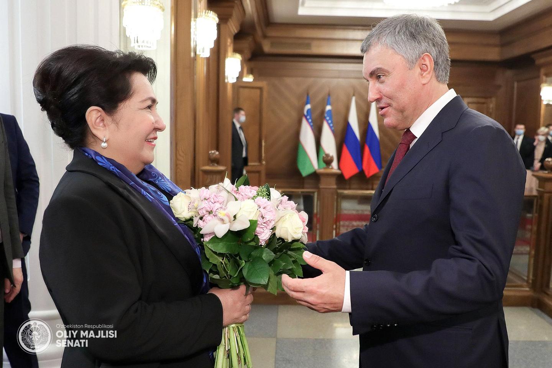 Состоялась встреча Танзилы Нарбаевой с Вячеславом Володиным