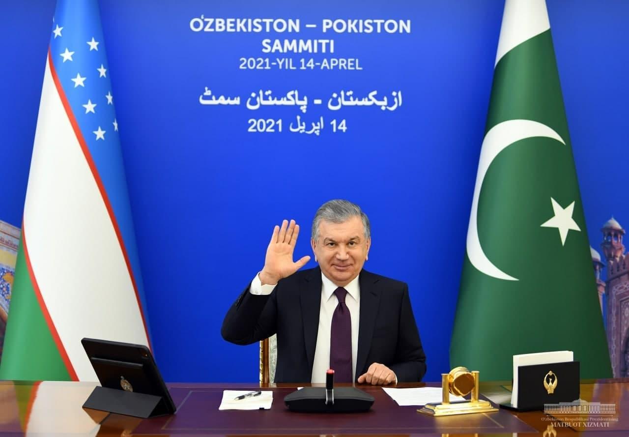 Состоялся онлайн-саммит Шавката Мирзиёева и премьер-министра Пакистана Имрана Хана