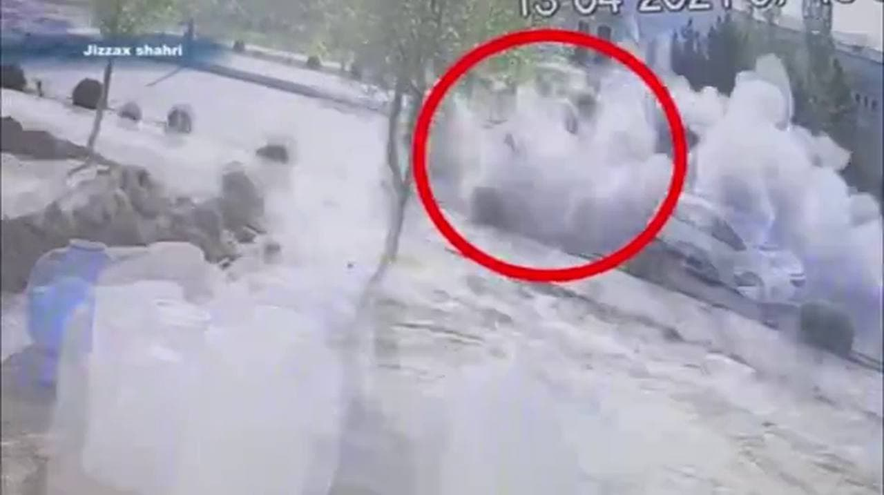 В Джизаке взорвался газовый баллон грузового автомобиля: пострадали мужчина и ребенок — видео